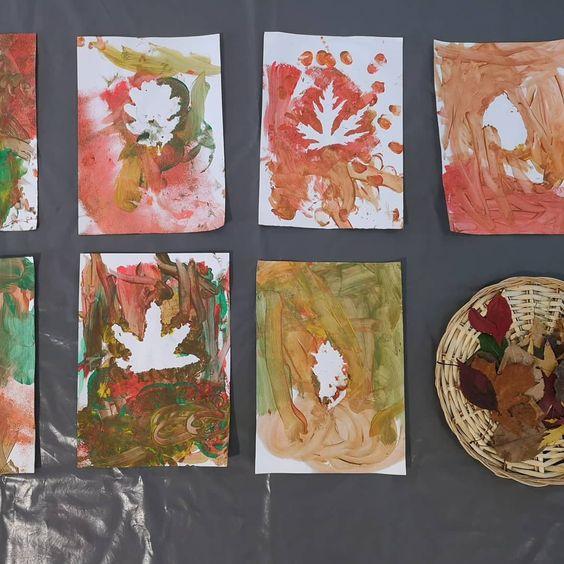 peindre des silhouettes de feuilles