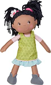 HABA 304576 - Poupée Cari, 30 cm, poupée douce et en tissu pour enfants à partir de 18 mois, avec vêtements amovibles et cheveux longs